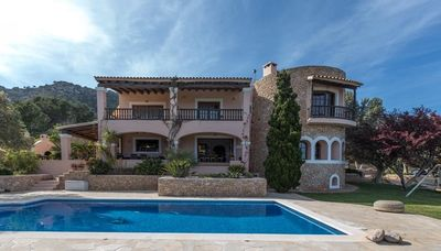 Photo for 4 bedroom Villa, sleeps 8 in Es Cubells with Pool, Air Con and WiFi