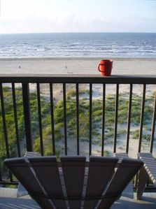 Coffee and a beach view