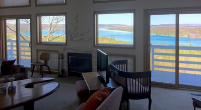 Photo for Bluff house with AMAZING views of Little Traverse Lake and Lake MIchigan