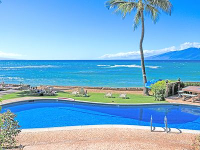 Photo for Spring Specials! Ground Floor End Unit And Ocean Front!! Come to Maui!