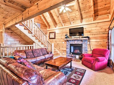 Photo for NEW! Sevierville Cabin w/ Spa, Game Room & Views!