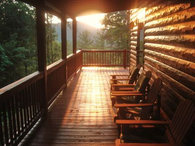 Photo for * 4br/3ba * Not another cabin in sight! *Hot tub*WIFI*Weekday special*