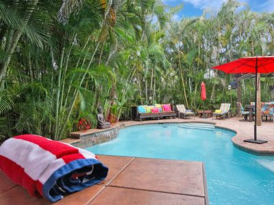 Photo for Martini Manor is the ultimate Tropical Oasis with a private Heated Pool!