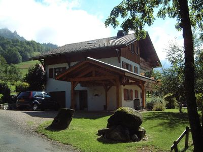 Photo for Beautiful South facing chalet - BERNEX, Nr. EVIAN, FRENCH ALPS