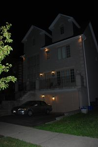 Front View Of The House - Night Time