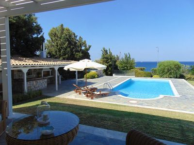 Photo for Holiday seafront villa with private pool