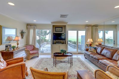 Living room overlooking the Calibogue Sound