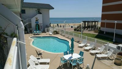 Photo for Oceanfront Virginia Beach Studio with pool