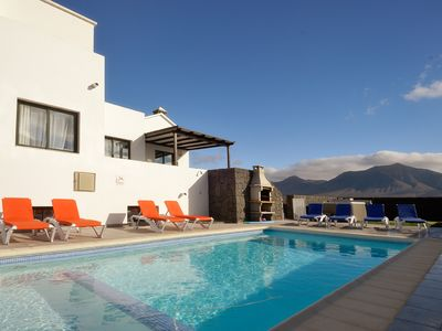 Photo for Playa Blanca Villa, Sleeps 10 with Pool, Air Con and WiFi