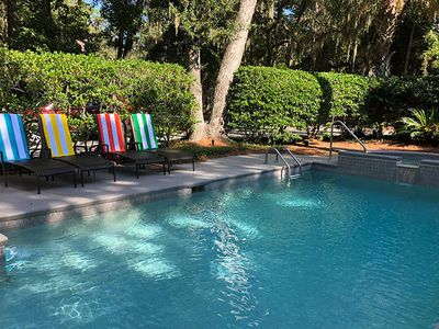 Photo for New to VRBO! 4th Row Luxury Home in Sea Pines w/ Private Pool & Spa