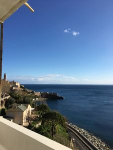 Photo for BEAUTIFUL T1 WITH PANORAMIC VIEW ON THE SEA AND THE CITADEL OF BASTIA