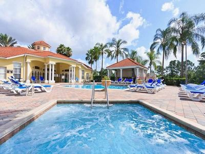 Photo for Emerald Island pool home with game room sleeps 16 south facing