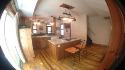 A view from the back of the kitchen.  How great for entertaining!