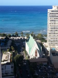 High Rise Deluxe Ocean View Free Parking/Wifi in Waikiki 3204