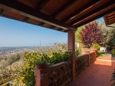 Photo for FIRST HILL SEA VIEW TWO STEPS FROM PIETRASANTA - 3 BEDROOMS - TERRACE