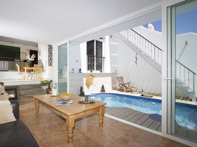 Photo for The Beach House with Private Pool, Stunning Sandy Beach Location, Rooftop views