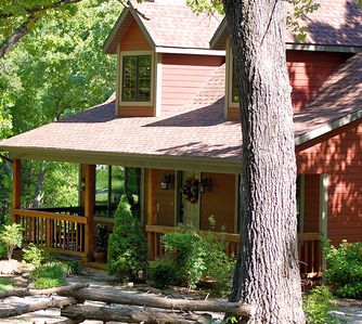 Photo for Woodsong Cottage - Charming 2BR Secluded Cottage Near Branson on 40 Acres Hot Tub  Foosball Table