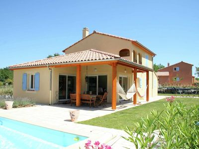 Photo for Detached villa with private pool on large fenced villa park