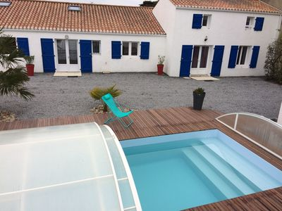 Photo for House 12 people with swimming pool, next to the beach-label 3 clévacances
