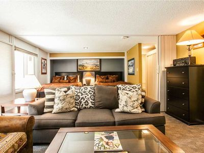 Photo for Slopeside Condo with Common area Heated Pool and Hot Tub