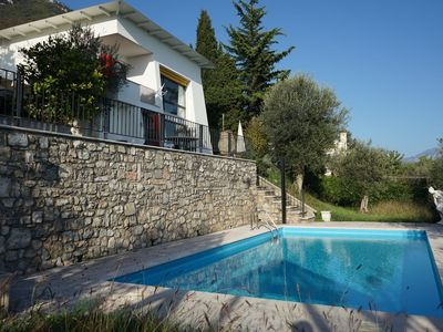 Photo for Beautiful Villa Bianca with Lake View, Pool, Wi-Fi, Balcony & Terrace; Parking Available