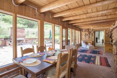 Patio views in dining room