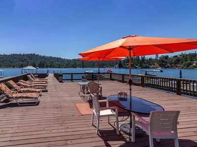 Photo for Ideally located Lakefront on Falls Beach with Biggest Private dock on the Lake!