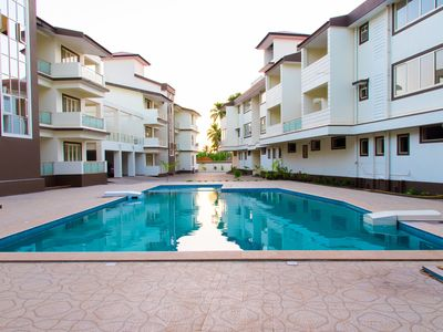 Photo for 1BHK apartment with swimming pool close to Beach
