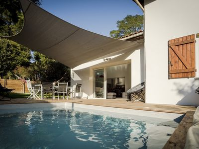 Photo for Modern comfortable villa with heated pool in 7 minutes from the beaches and 4 golf