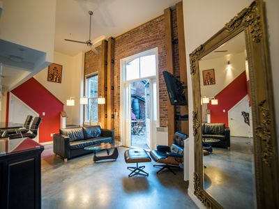 Photo for Heritage building loft backing onto a hidden old town courtyard, quiet & central