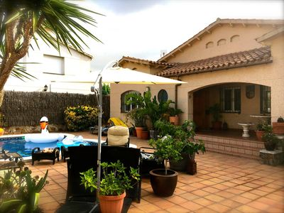 Photo for Beautiful Villa with Private Pool very close to the beach in Castelldefels Spain