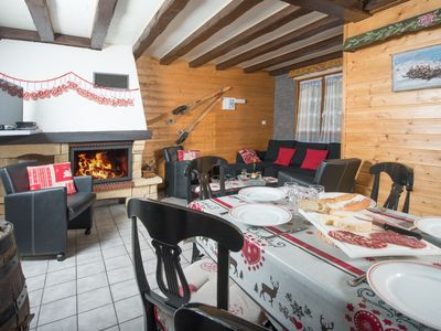 Photo for Nice mountain chalet spacious; 5ch up to 10pers. at 100m ski slopes + sauna
