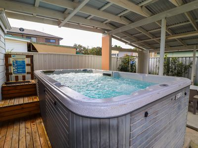 Photo for An undercover heated Swim Spa and short walk to the edge of Lake Macquarie