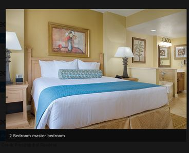 King size bed Master