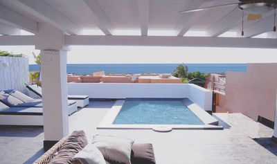 Photo for Stunning villa with sea view, 300m away from the Cala Moli bay