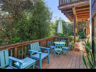 Photo for Beautiful in-law apt w deck, garden, views, great for work, play. Near UC, SF