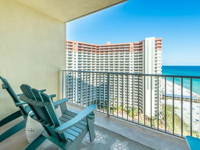 Photo for ☀Shores of Panama 1604☀3BR-WOW! Oct 18 to 20 $671 Total! Gulf Views-Lagoon Pool!