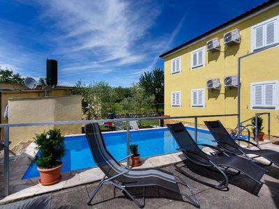 Photo for Cozy spacious apartment - outdoor pool, private parking, private balcony, terrace, beautiful view