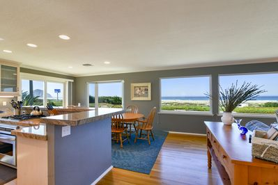 This home has amazing ocean views and easy beach access.
