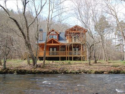 Photo for Booking  Now For Fall and Winter !  Custom Cabin on the Hiawassee River!