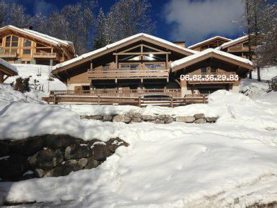 Photo for In luxury chalet for 6 people facing the Aravis near Confi