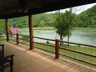 Gorgeous view of the river from the porch