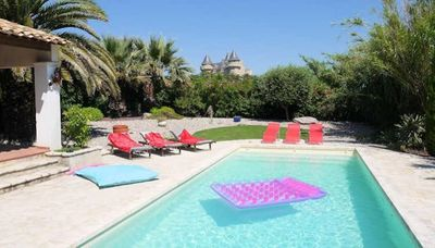 Photo for Villa seen from the Chateau - Margon France with private pool