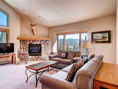 Photo for This wonderful condo has summer time mountain views from large living room windows