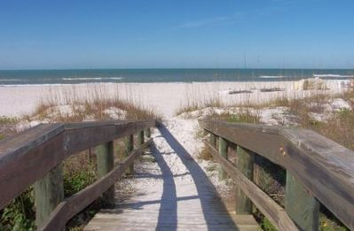 Boardwalk from the property to St Pete Beach
