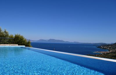Photo for Completely private villa with panoramic sea views of the Ionian islands