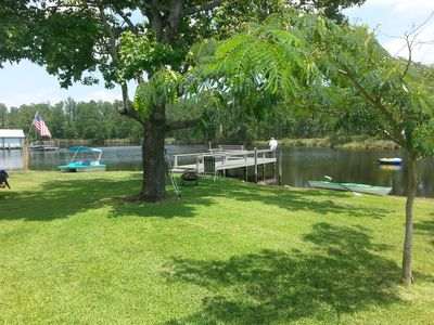 Photo for Waterfront Belhaven Retreat -Kayak, Fish, Relax-entire home with kayaks, paddleb