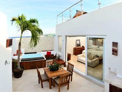Photo for 3 BDRm Penthouse super close to the beach!