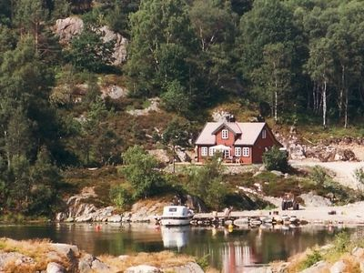 Photo for Large holiday home for 8 people with the fjord just behind the large terrace
