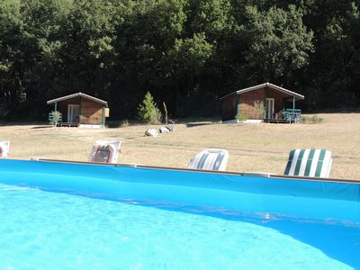 Photo for Beautiful chalet with pool access